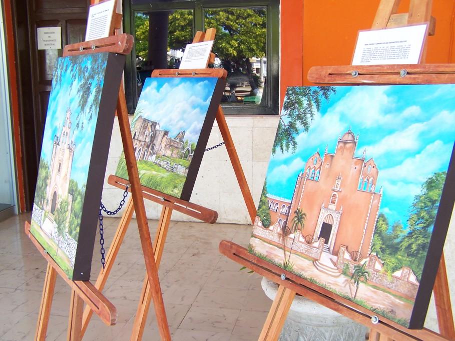 Tizimín: Exponen pinturas de conventos y templos católicos de Yucatán