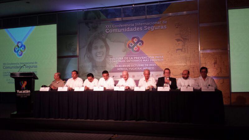 Inicio la  XXI Conferencia Internacional de Comunidades Seguras realizada en Mérida