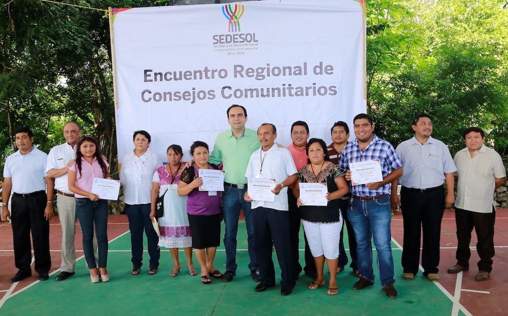 Fortalecen integración de consejos comunitarios de la zona oriente del estado