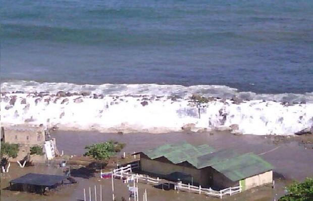 Fenómeno de mar de fondo, originado por tormentas en el Pacífico