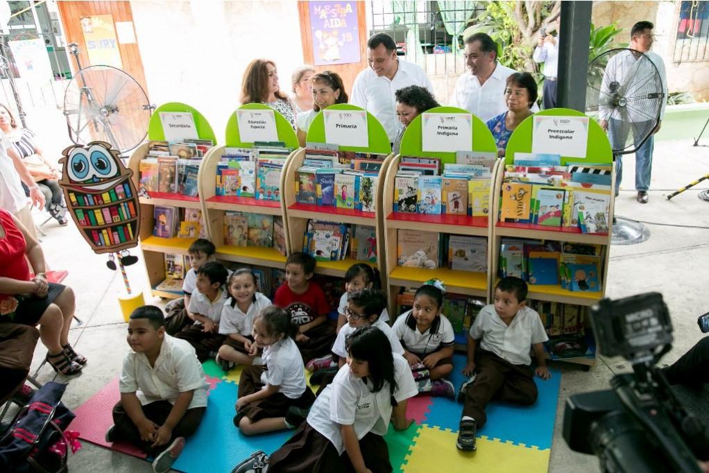 Fomentan hábito de la lectura entre niñez yucateca