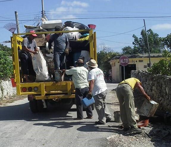 Recogen 20 toneladas de cacharros en Sucilá
