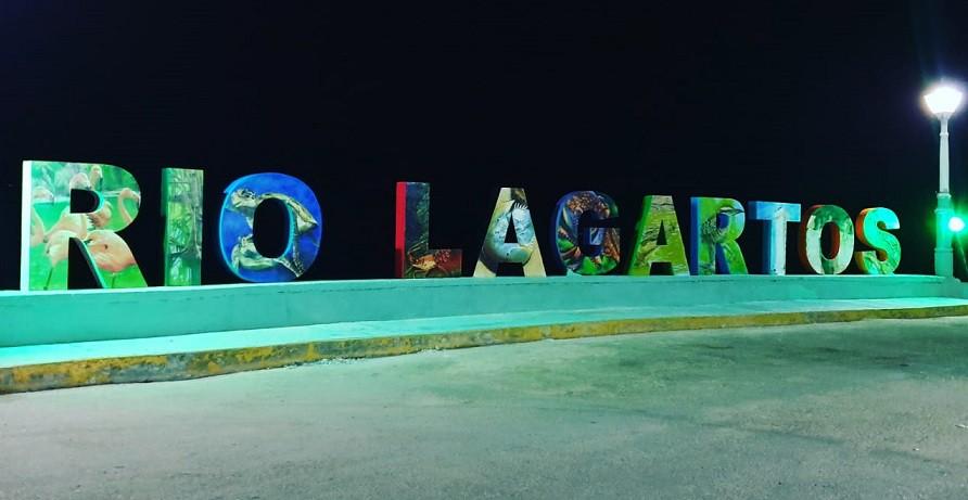 Nueva imagen de letras gigantes de Rio Lagartos