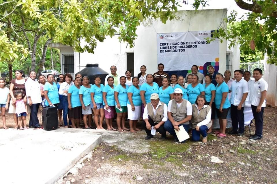 Certifican entorno libre de criadero de mosquitos en Tizimín