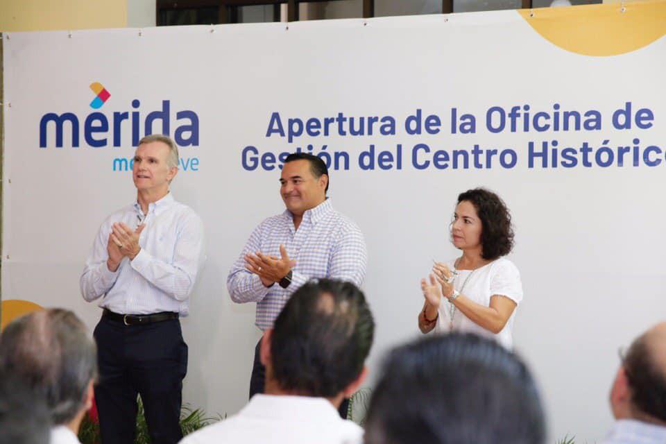 Alcalde de Mérida inaugura oficina de gestión del Centro Histórico