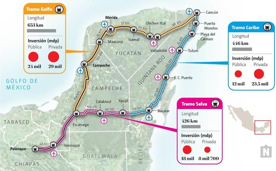 Trabajos del Tren Maya comenzarían la última semana de agosto