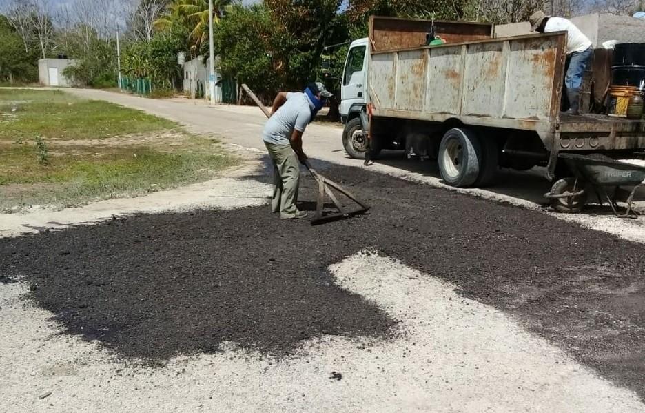 Reparan calles de Tizimín dañadas por las lluvias