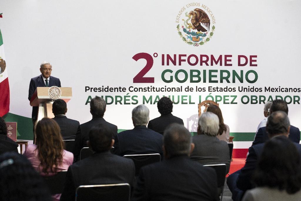AMLO presenta su II Informe de Gobierno