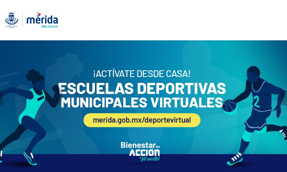 Abren inscripciones en escuelas deportivas virtuales en Mérida