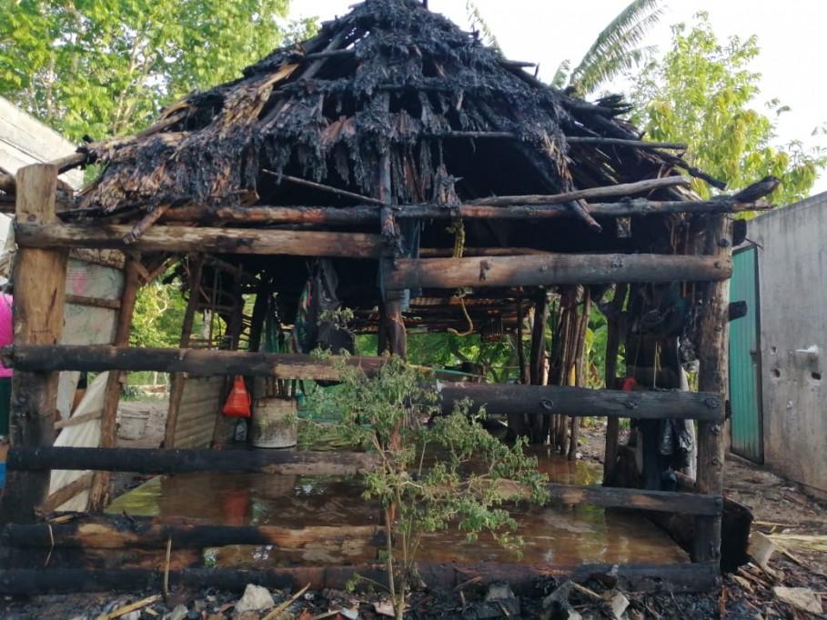 Familia no ha podido recuperar su casa después de quemarse