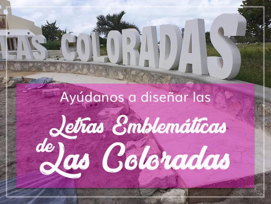 Entre ciudadanos buscan diseño de letras de las coloradas