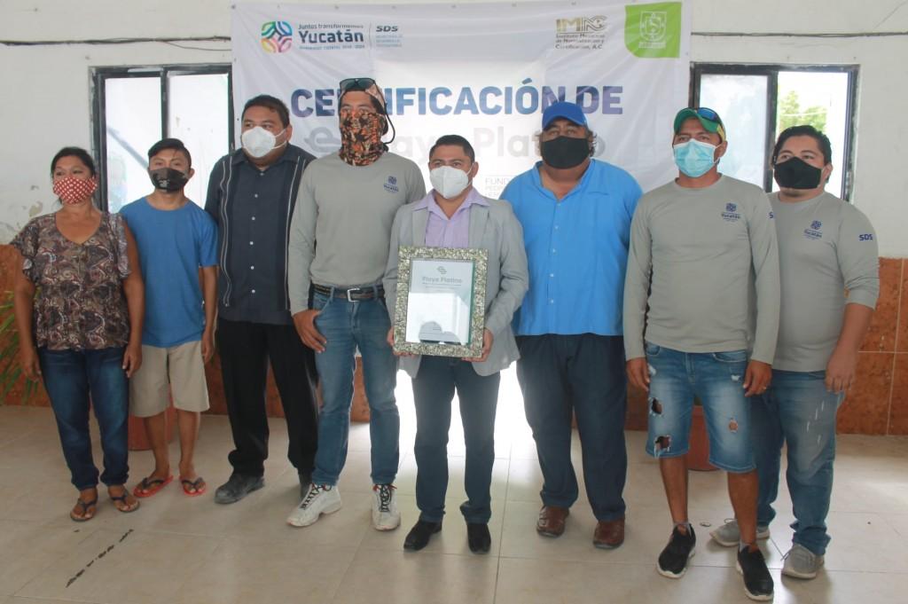 Playas de rio lagartos reciben certificaciones playa platino