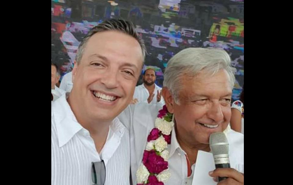 Diputado federal Luis Alegre y el presidente Andrés Manuel López Obrador