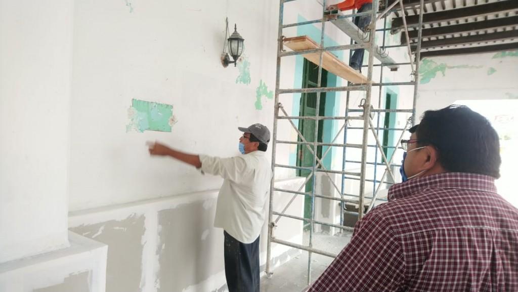 Avanzan trabajos de remodelación de palacio municipal de Sucilá