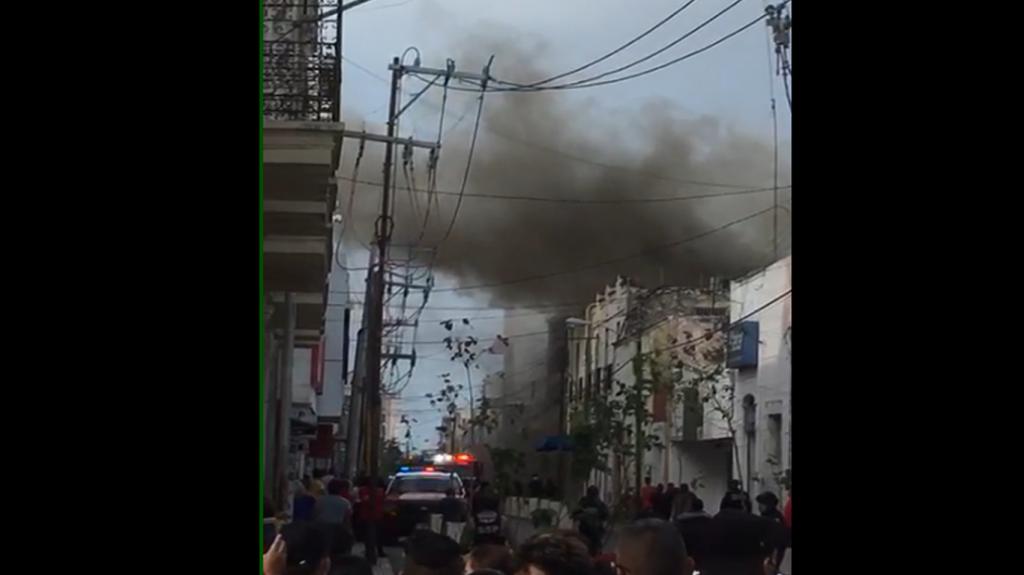 Incendio interrumpió la tranquilidad en el Centro de Mérida