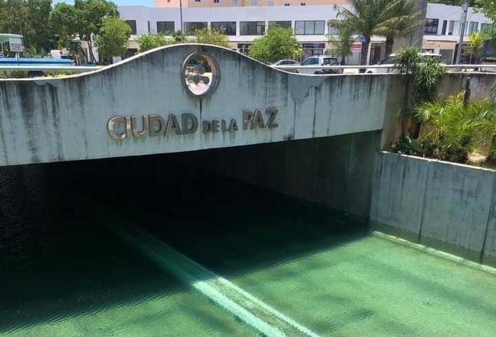 Ya iniciaron los trabajos preliminares en el paso deprimido de Mérida