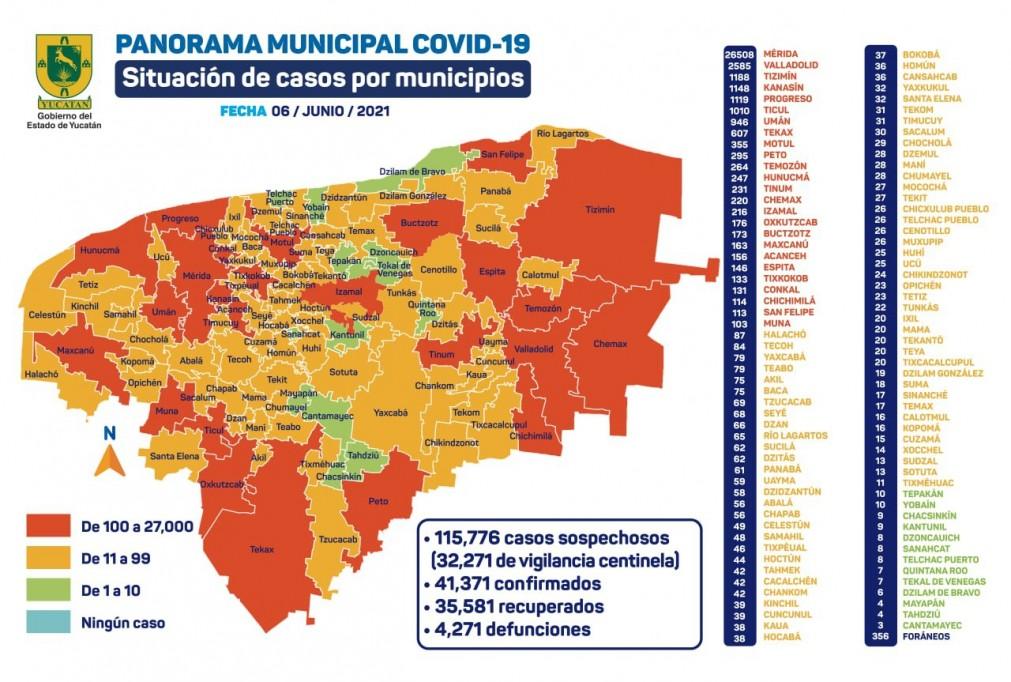 Preocupa aumento de casos de Covid-19 en Yucatán