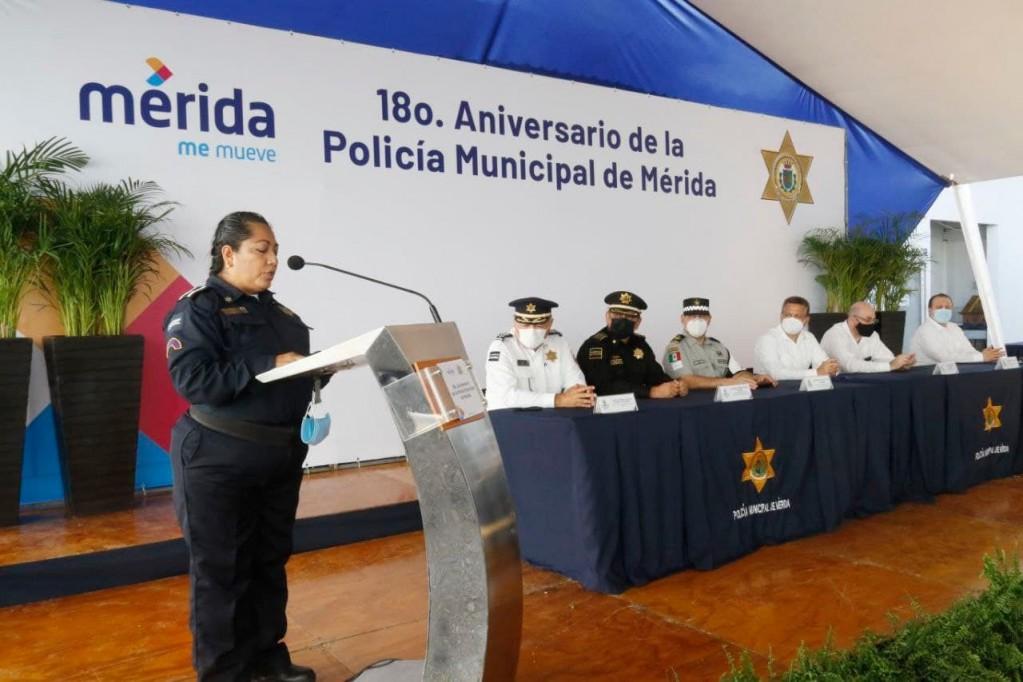 Policía municipal de Mérida, sólido pilar para la seguridad de la ciudadanía