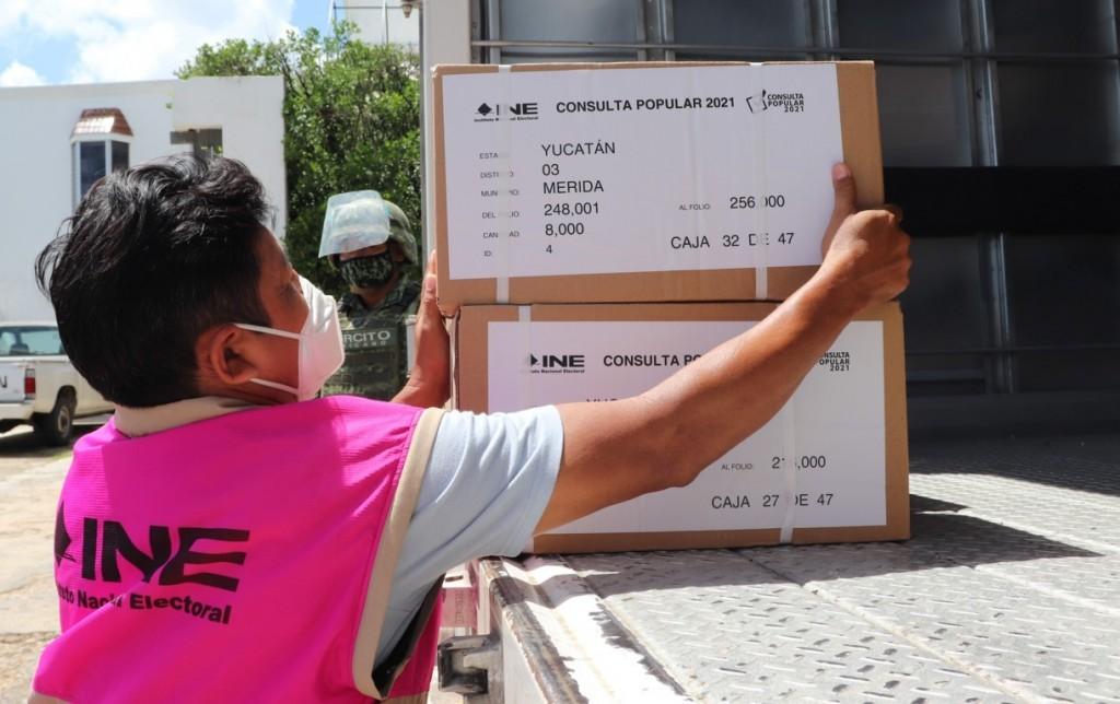 Llegan a Yucatán 1.6 millones de papeletas para consulta popular