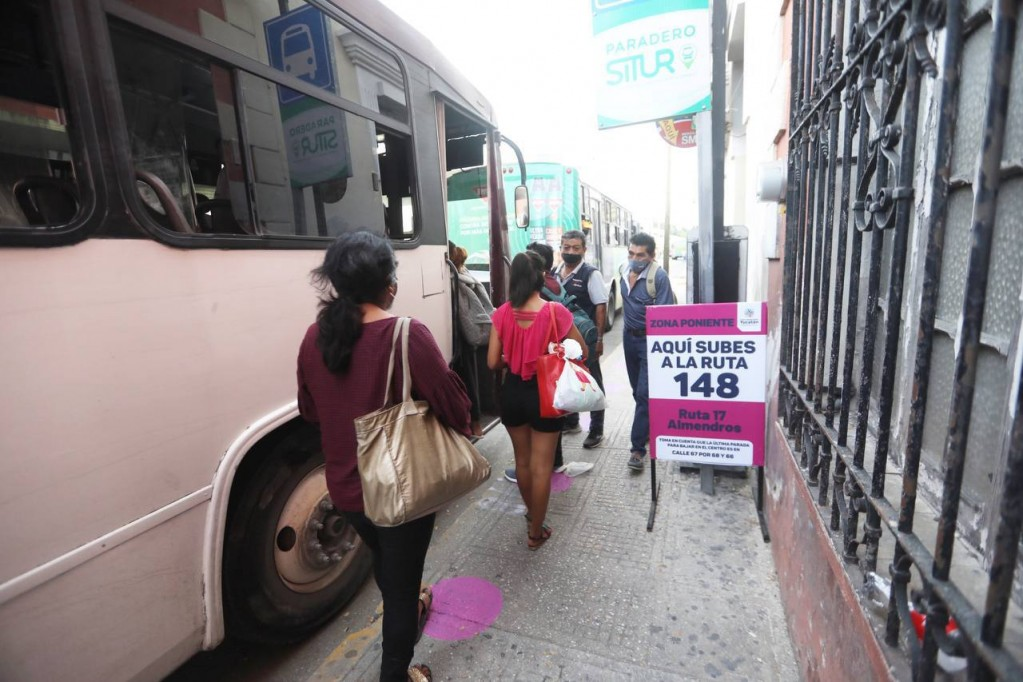 Mañana reubicaran paraderos del Centro de Mérida